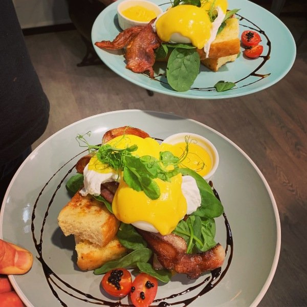 Holy Hunt Eggs Benedict